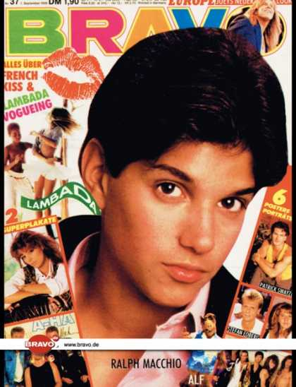 Bravo - 37/89, 07.09.1989 - Ralph Macchio (Karate Kid, Film)