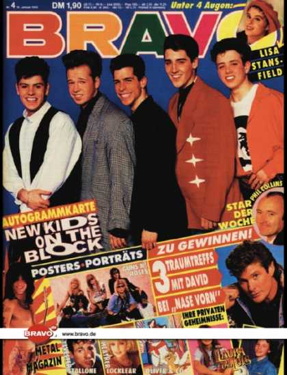Bravo - 04/90, 18.01.1990 - New Kids on the Block - Phil Collins - Lisa Stansfield