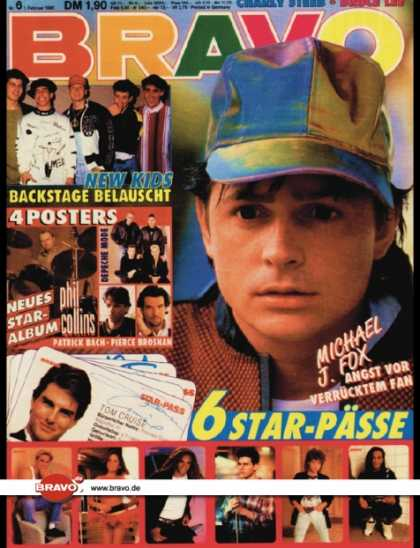 Bravo - 06/90, 01.02.1990 - Michael J. Fox - New Kids on the Block