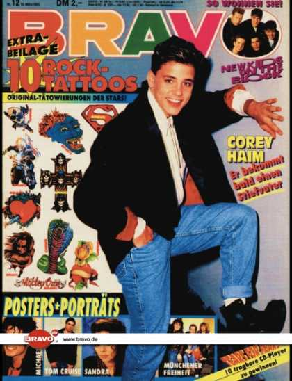 Bravo - 12/90, 15.03.1990 - Corey Haim - New Kids on the Block