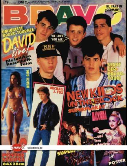 Bravo - 19/90, 03.05.1990 - New Kids on the Block - Madonna