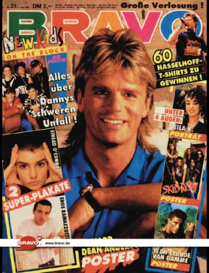Bravo - 21/90, 17.05.1990 - Richard Dean Anderson (MacGyver, TV Serie) - New Kids on the