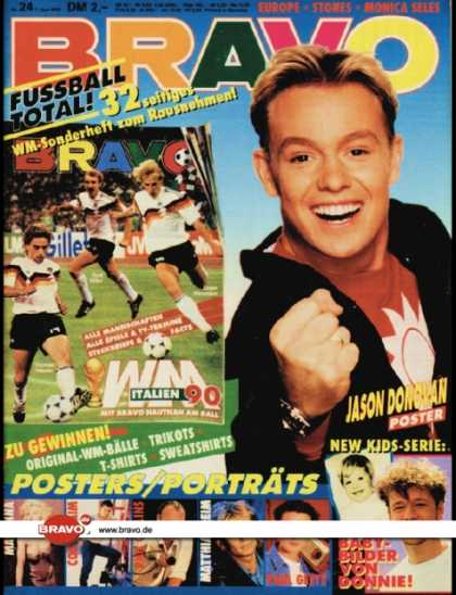 Bravo - 24/90, 07.06.1990 - Jason Donovan - Donnie Wahlberg (New Kids on the Block)