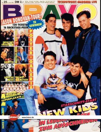Bravo - 25/90, 13.06.1990 - New Kids on the Block
