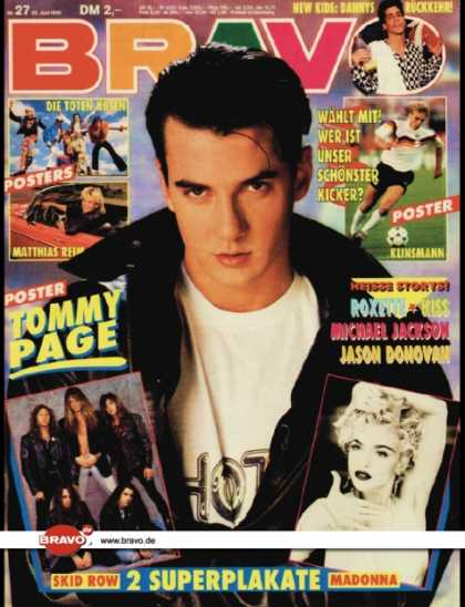 Bravo - 27/90, 28.06.1990 - Tommy Page - Danny Wood (New Kids on the Block)