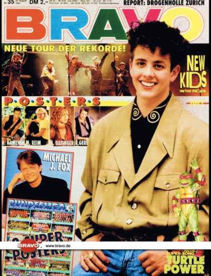 Bravo - 35/90, 23.08.1990 - Joey McIntyre (New Kids on the Block) - Turtles