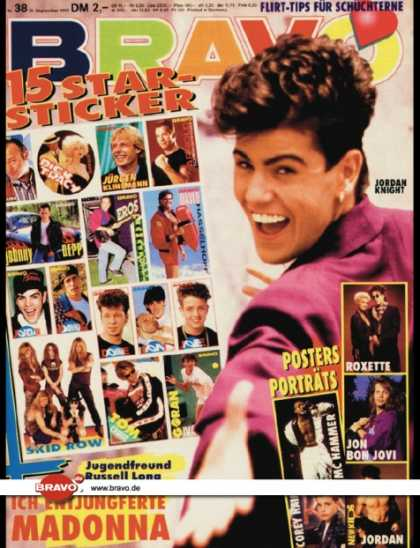 Bravo - 38/90, 13.09.1990 - Jordan Knight (New Kids on the Block)