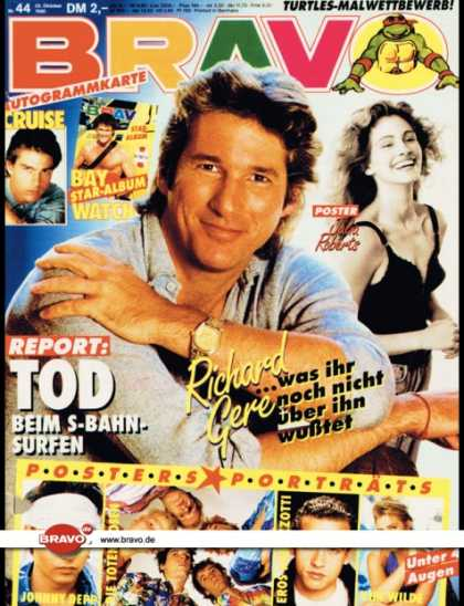 Bravo - 44/90, 25.10.1990 - Richard Gere (Pretty Woman, Film) - Turtles - Kim Wilde