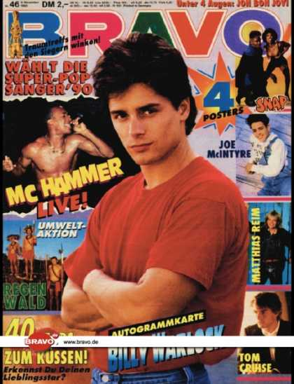 Bravo - 46/90, 08.11.1990 - Billy Warlock (Baywatch, TV Serie) - MC Hammer