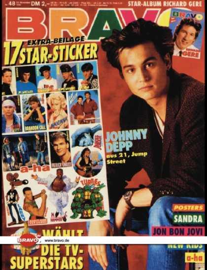 Bravo - 48/90, 22.11.1990 - Johnny Depp 48/90, 22.11.1990 - Johnny Depp