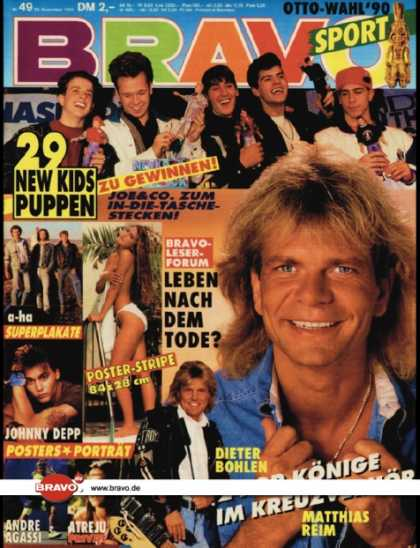 Bravo - 49/90, 29.11.1990 - Matthias Reim & Dieter Bohlen - New Kids on the Block