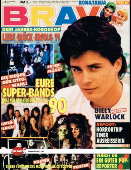Bravo - 01/91, 27.12.1990 - Billy Warlock (Baywatch, TV Serie) - Ron und Tanja (TV Serie