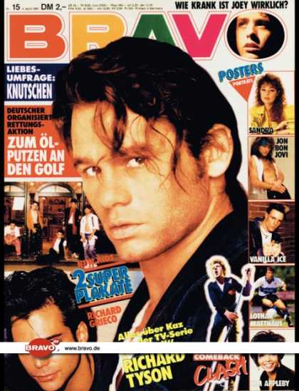 Bravo - 15/91, 04.04.1991 - Richard Tyson (Hardball, TV Serie) - Clash - Joey McIntyre (