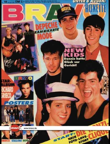 Bravo - 18/91, 25.04.1991 - New Kids on the Block