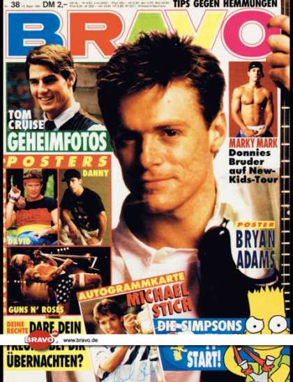 Bravo - 38/91, 12.09.1991 - Bryan Adams - Marky Mark - Die Simpsons - Tom Cruise