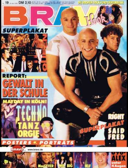 Bravo - 19/92, 29.04.1992 - Right Said Fred - Alex Christensen (U 96) -