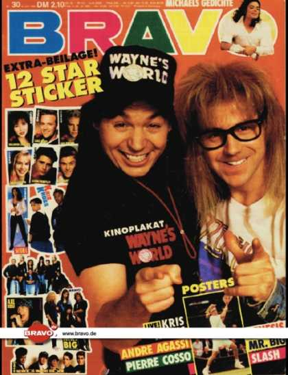 Bravo - 30/92, 16.07.1992 - Wayne's World (Film) - Michael Jackson