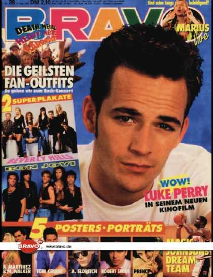 Bravo - 39/92, 17.09.1992 - Luke Perry (Beverly Hills 90210, TV Serie) - Marius Mülle