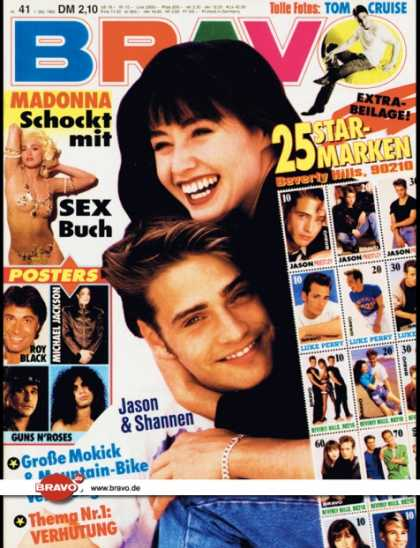 Bravo - 41/92, 01.10.1992 - Jason Priestley & Shannon Doherty (Beverly Hills 90210, TV S