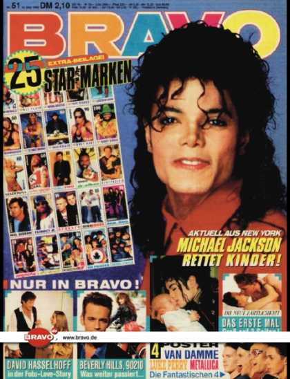Bravo - 51/92, 10.12.1992 - Michael Jackson - David Hasselhoff - Beverly Hills 90210 (TV