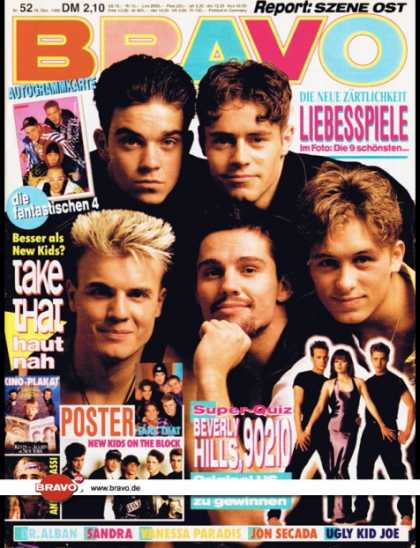 Bravo - 52/92, 16.12.1992 - Take That - Beverly Hills 90210 (TV Serie) - Dr. Alban - San