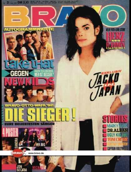 Bravo - 02/93, 07.01.1993 - Michael Jackson - Take That - New Kids on the Block