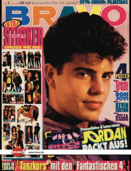 Bravo - 03/93, 14.01.1993 - Jordan Knight (New Kids on the Block) - Die Fantastischen Vi