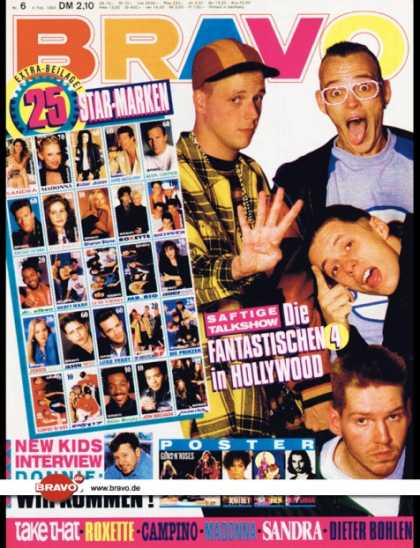 Bravo - 06/93, 04.02.1992 - Die Fantastischen Vier - New Kids on the Block