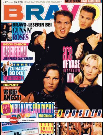 Bravo - 27/93, 01.07.1993 - Ace of Base - Guns N' Roses - Die Fantastischen Vier