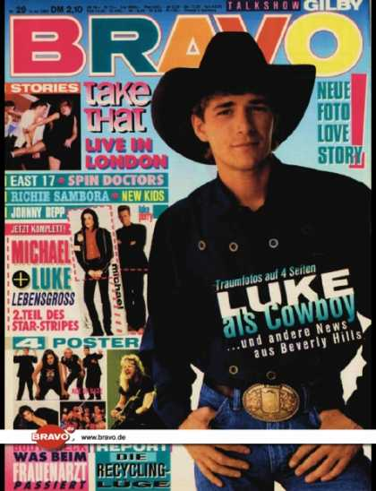Bravo - 29/93, 15.07.1993 - Luke Perry (Beverly Hills 90210, TV Serie) - Take That