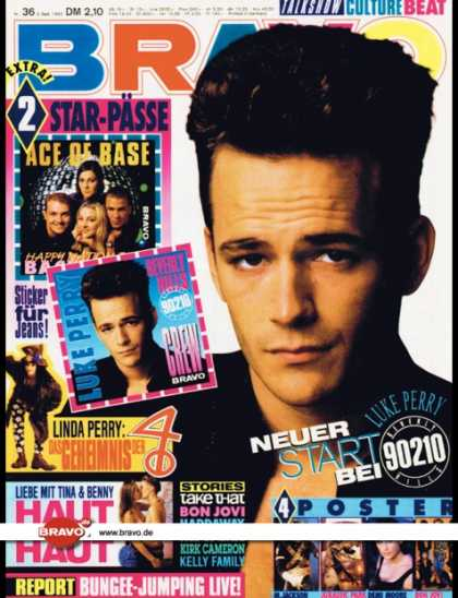 Bravo - 36/93, 02.09.1993 - Luke Perry (Beverly Hills 90210, TV Serie) - Linda Perry (4