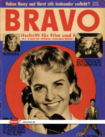 Bravo - 01/57, 01.01.1957 - Germaine Damar - Bill Haley - Sugar Ray Robinson - Little Ri