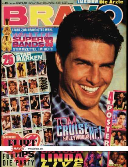 Bravo - 45/93, 04.11.1993 - Tom Cruise - 4 Non Blondes