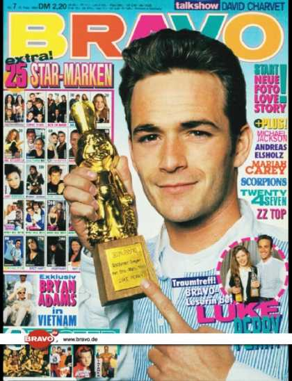Bravo - 07/94, 10.02.1994 - Luke Perry (Beverly Hills 90210, TV Serie) - Bryan Adams -