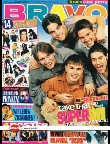 Bravo - 09/94, 24.02.1994 - Take That - Die Prinzen - -