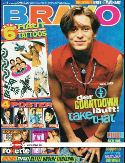 Bravo - 11/94, 10.03.1994 - Mark Owen (Take That) - Roxette - -