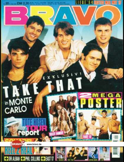 Bravo - 20/94, 11.05.1994 - Take That - Campino (Die Toten Hosen) - Reel 2 Real -