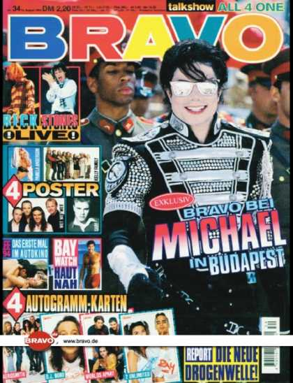 Bravo - 34/94, 18.08.1994 - Michael Jackson - David Hasselhoff