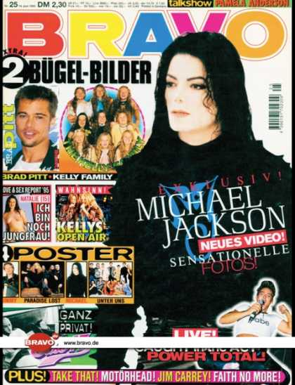 Bravo - 25/95, 14.06.1995 - Michael Jackson - Kelly Family - East 17 - Caught In The Act