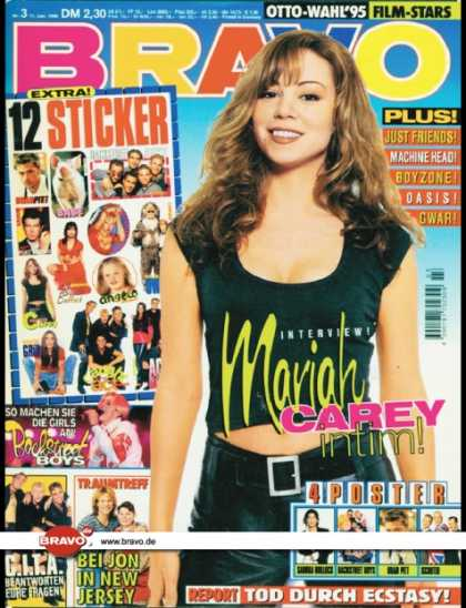 Bravo - 03/96, 11.01.1996 - Mariah Carey - Backstreet Boys - Caught In The Act - Jon Bon