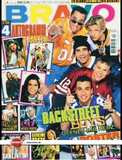 Bravo - 04/96, 18.01.1996 - Backstreet Boys - Die Toten Hosen - East 17 - Kelly Family