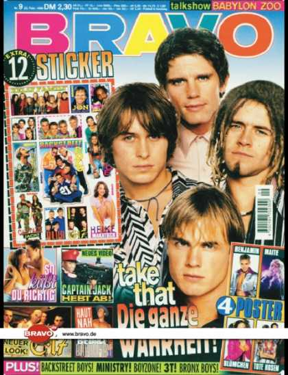 Bravo - 09/96, 22.02.1996 - Take That - Captain Jack - East 17 - Bed & Breakfast -