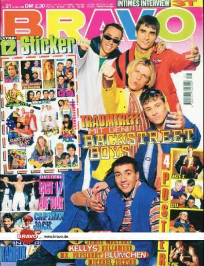Bravo - 21/96, 15.05.1996 - Backstreet Boys - East 17 - Captain Jack -