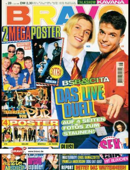 Bravo - 28/96, 04.07.1996 - NickCarter (Backstreet Boys) &Lee Baxter (Caught In The Act)