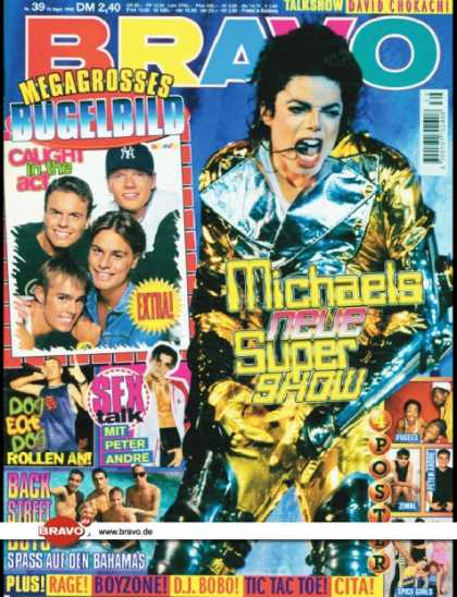 Bravo - 39/96, 19.09.1996 - Michael Jackson - Dog eat Dog - Peter Andre - Backstreet Boy
