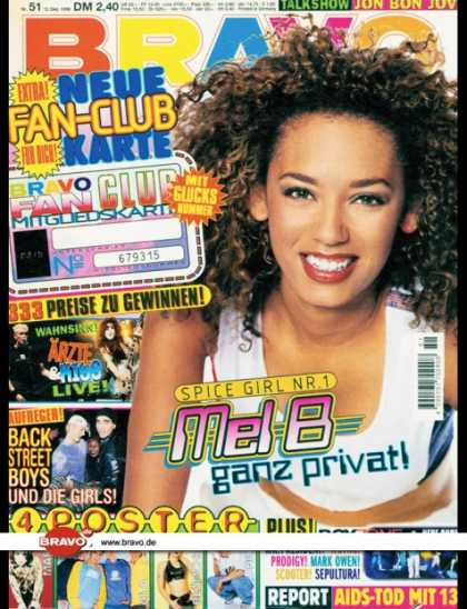 "Bravo - 51/96, 12.12.1996 - Melanie Brown ""Mel B"" (Spice Girls) - Die Ärzte - Backst"