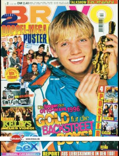 Bravo - 02/97, 02.01.1997 - Nick Carter (Backstreet Boys) - Kelly Family -