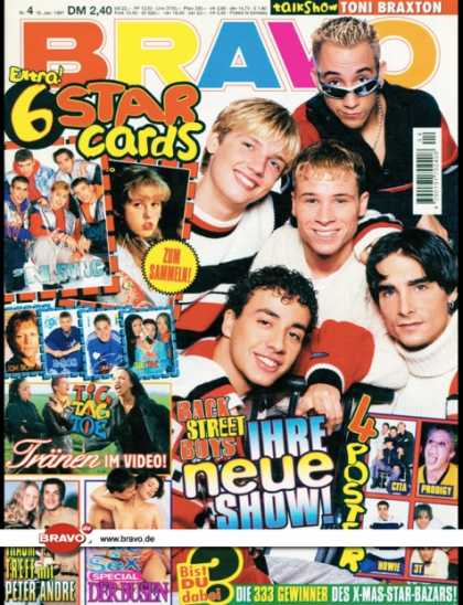 Bravo - 04/97, 16.01.1997 - Backstreet Boys - Tic Tac Toe - Peter Andre -