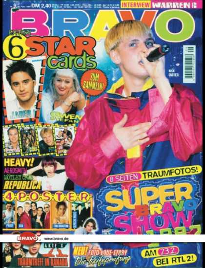 Bravo - 09/97, 20.02.1997 - Nick Carter (Backstreet Boys) - Akte X (TV Serie) - Republic