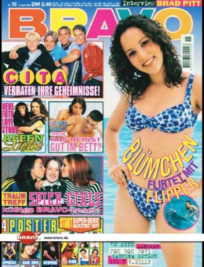 Bravo - 15/97, 03.04.1997 - Jasmin Wagner (Blümchen) - Caught In The Act - Spice Girl